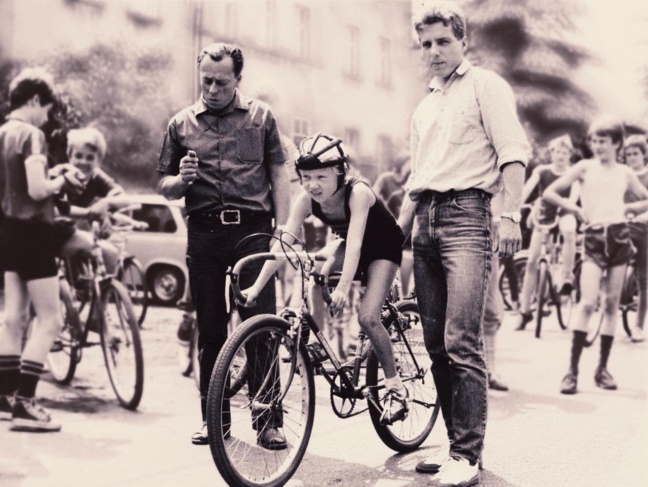 Maik Petzold, historische Aufnahme von einem Jugend-Radrennen